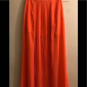 Charlotte Russe Bright Coral Maxi Skirt